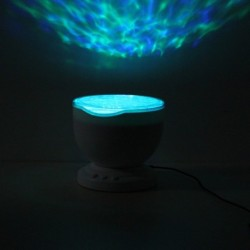 LED Waves Projector Music Night Light