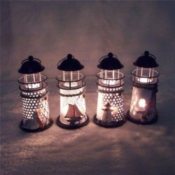 Iron Art Candle Holder Lighthouse