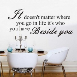 Quote Wall Sticker IT DOESN'T MATTER WHERE YOU...