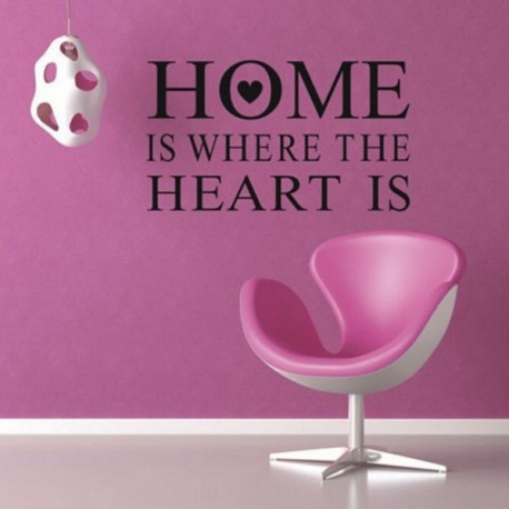 Home Is Where The Heart Is Quote Mesmerizing Home Is Where Heart Is Quote Wall Stickers Pvc Removable Zy8123 .