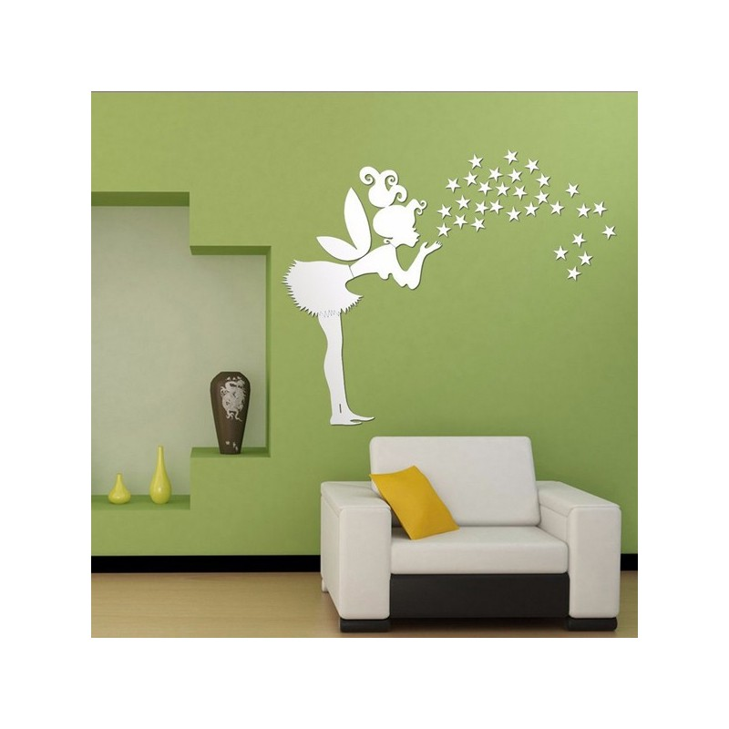 Star mirror wall decals
