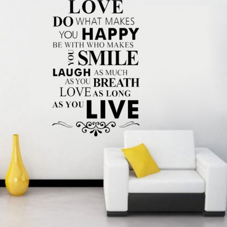wall stickers removable art words vinyl decal - 5220 -