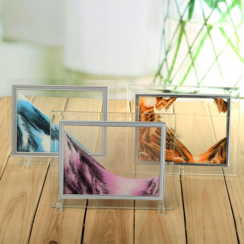 Moving Sand Art Picture Glass