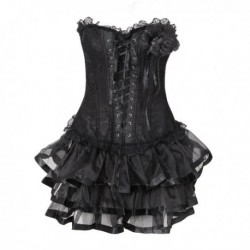 Gothic Push-Up Lace Corsets Dress
