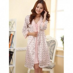 Pink Nightwear with Robe