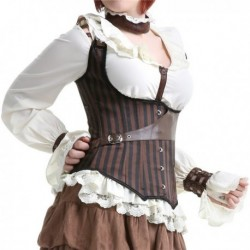 Stylish Brown Corset With Leather
