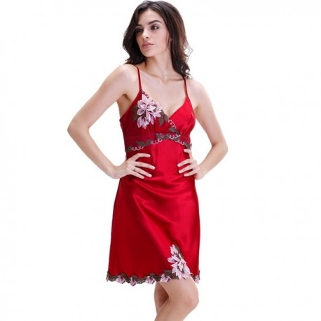 Women Embroidery Sleepwear S-XXL