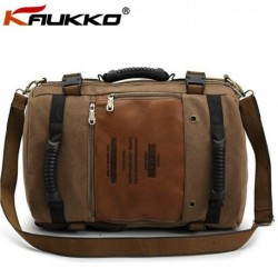 Men Large Canvas Travel Camping Outdoor Hiking Bag