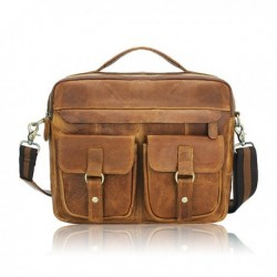 Men Business Bag Genuine Leather