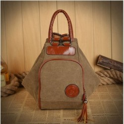 Men & Women Canvas Tassel Backpack