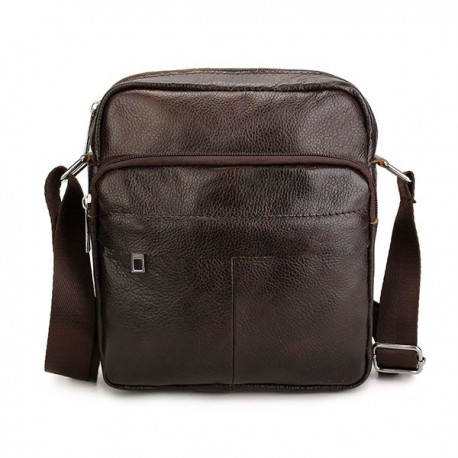 Cowhide Genuine Leather Men Business Bag