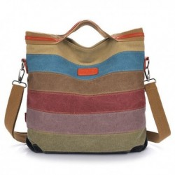 Canvas Striped Crossbody Bags