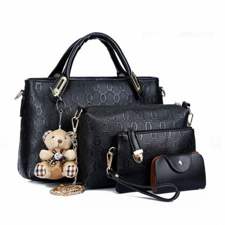 Ladies Crocodile Style Handbags 4pcs