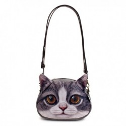 3D Cat Face Crossbody Bags