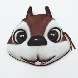 Animal Face Women Zip Case Coin Purse