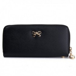Bow-knot Zipper Long Wallet