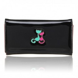 Women Long Wallet Lovely Cat