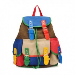 Canvas Color Block Backpack