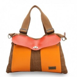 Canvas Color Block Handbag