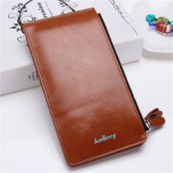 Waxy Ultrathin Leather Long Purse for Men or Woman