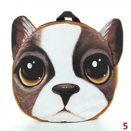 3D Backpack - Animal Schoolbag with Dog or Cat Face