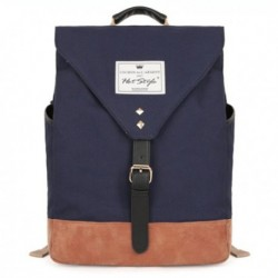 Contrast Color Canvas Backpack