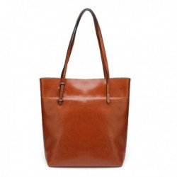 Exclusive Brown Oil Waxing Cowhide Leather Handbag