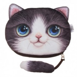 3D Purse with cat head cartoon
