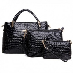 Crocodile Handbags Crossbody Bags Clutches 3Pcs