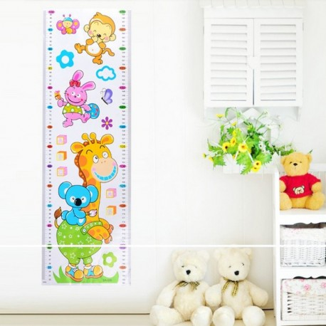Height Measuring Wall Sticker Room Ruler Cartoon