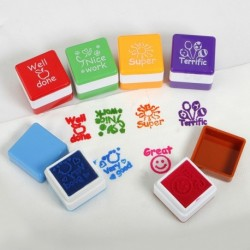 Motivation Stamper Sticker Self Inking 6Pcs