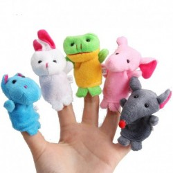 Kids Plush Animal Finger Puppets 10Pcs a Set