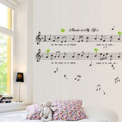Musik Noten Wand Sticker