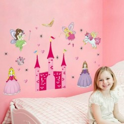 Princess Girl Sweet Fairy Castle Wall Stickers