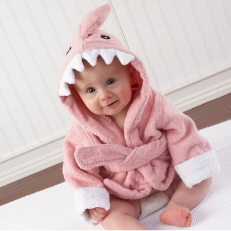 Baby Infant Hooded Wrap Bathrobe Towel