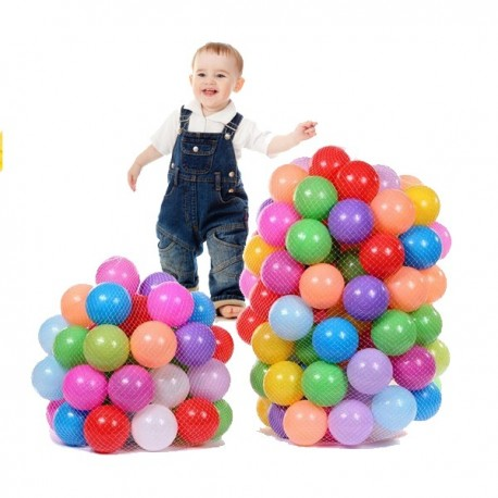 100pcs Children Ocean Colorful Nice Elasticity Thickening Ball Toys