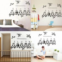 Children Room Owl Birds Wall Stickers