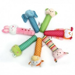 Baby Developmental Animal-Soft Plush Rattles