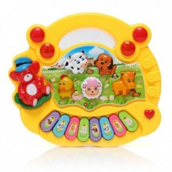 Cute Yellow Animals Children Musical Developmental Electrical Piano Keyboard