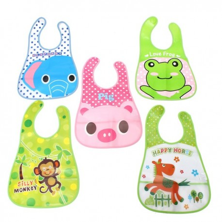 Kids Waterproof Bib Saliva Dripping