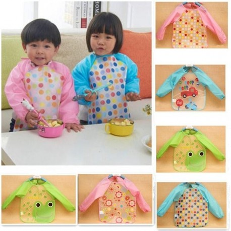 Cute Long Sleeved Waterproof Apron
