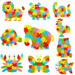 3D Wooden Animal Puzzle Jigsaw Alphabet 26pcs