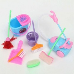 Mini Household Cleaning Tools For Little Princess 9pcs