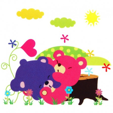 Cute Cartoon Jungle Animals DIY Removable Wall Sticker
