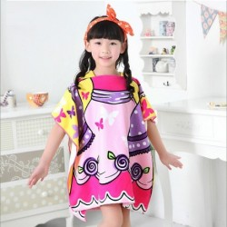 Girls Soft Polyester-Fiber Bathroom Robes