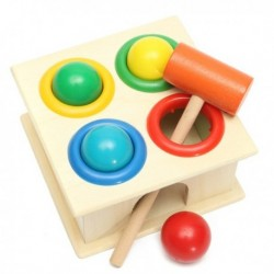 Children Wooden Knock Hammering Ball Set