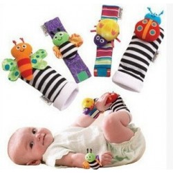 Lovely Animal Baby Rattles 4Pcs