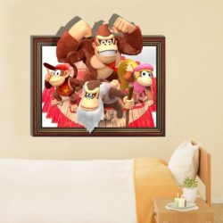 Cartoon Orangutan Family Wall Decals 3D