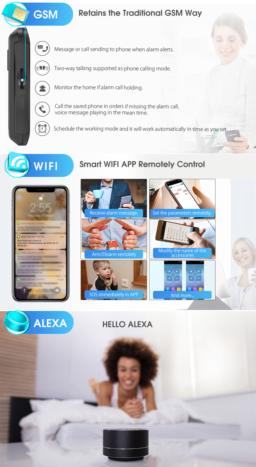 Smart Home Security Alarm System - LAZAARA